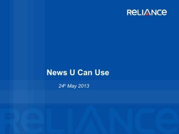 Reliance Presentation template - Reliance Mutual Fund