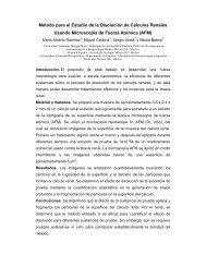 Método para el Estudio de la Disolución de Cálculos Renales ... - CBI