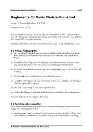 660:1 Reglemente för Kulturnämnden - Borås Stad