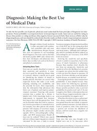 Diagnosis: Making the Best Use of Medical Data - American ...