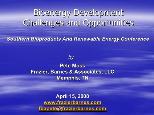 """""""Pete"""" Moss - Mississippi Biomass and Renewable Energy Council"""