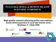 Slides only (PDF) - National Rural Health Alliance