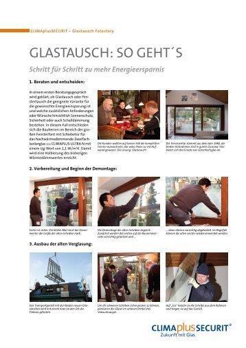 Schritt für Schritt zu mehr Energieersparnis - Glas Herzog GmbH