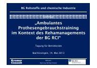 Vortrag von Michael Kramer - Berufsgenossenschaft Rohstoffe und ...