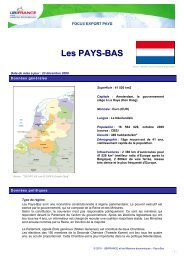 Les PAYS-BAS - ILE-DE-FRANCE INTERNATIONAL