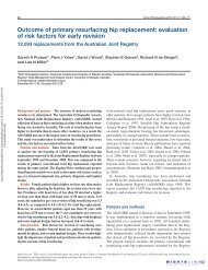 Outcome of primary resurfacing hip replacement - Surface Hippy ...