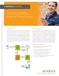 Brochure: Amdocs Mobile Internet Personalizer
