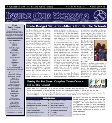 Winter 2009-10 - Rio Rancho Public Schools