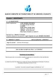 MAPA N°18-2011 : matériels informatiques - Lycée Georges Brassens