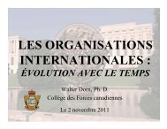 LES ORGANISATIONS INTERNATIONALES : - Dr. Walter Dorn