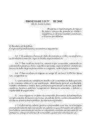 PROJETO DE LEI Nº DE 2005