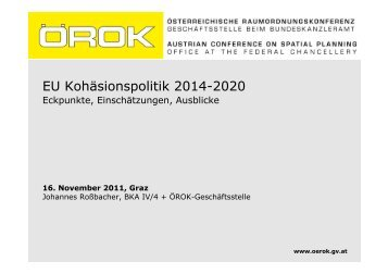 EU Kohäsionspolitik 2014-2020 - Regionalmanagement Graz ...