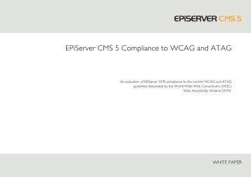EPiServer's Compliance to WCAG and ATAG - EPiServer World