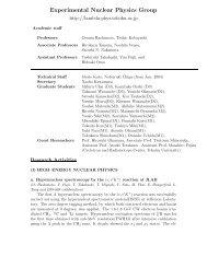 Experimental Nuclear Physics Group