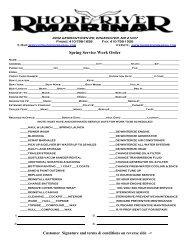 Spring Service Work Order - Psndealer.com psndealer