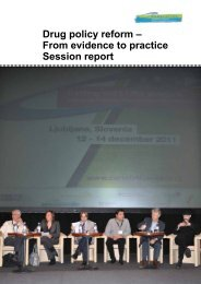Drug policy reform – From evidence to practice Session ... - Diogenis