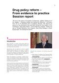 Drug policy reform – From evidence to practice Session ... - Diogenis - Page 3