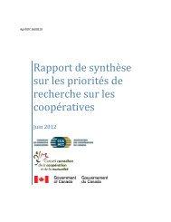 Rapport de synthèse sur les priorités de recherche sur les ...
