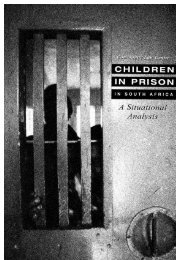 Children in Prison in South Africa - Community Law Centre