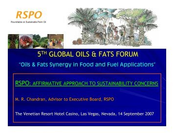 Affirmative Approach to Sustainability Concerns - American Palm Oil ...