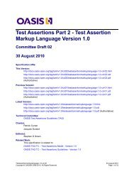 Committee Draft 2 - docs oasis open - Oasis