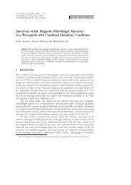 Spectrum of the Magnetic Schrödinger Operator in a Waveguide ...