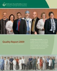 Quality Report 2009 - Washington Hospital Healthcare System
