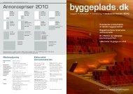Annoncepriser 2010 - Byggeplads.dk