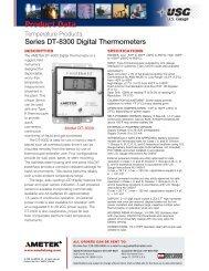 USG Series DT-8300 Digital Thermometers - PEC-KC.com