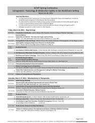 Daily Agenda - American College of Medical Toxicology