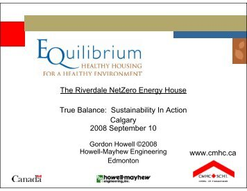 The Riverdale NetZero Energy House True Balance: Sustainability ...