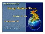 Energy Efficiency of Korean Industries - NEAEF