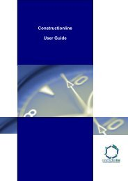 Constructionline User Guide