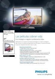Leaflet 47PFL9664H_12 Released Spain (Spanish ... - Supersonido