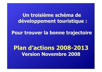 Le schéma de développement touristique 2008-2013