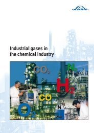 Industrial gases - Linde Gas
