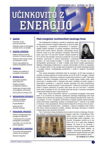 Učinkovito z energijo - Ministrstvo za gospodarski razvoj in tehnologijo