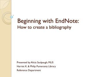 What's the difference between Endnotes & a Bibliography?