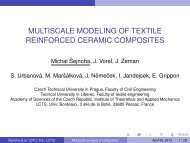 multiscale modeling of textile reinforced ceramic composites