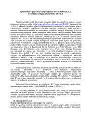 1 Vyhodnotenie pripomienok spoločnosti Slovak Telekom, a.s. k ...