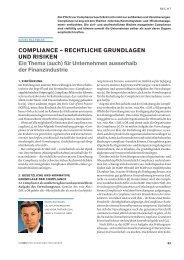 Compliance – Rechtliche Grundlagen und Risiken - Schweiz