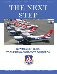 New Member Guide PDF - Nevada Wing - Civil Air Patrol