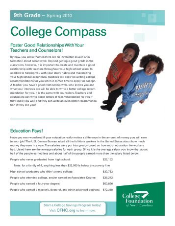 College Compass Grade 9 - College Foundation of North Carolina