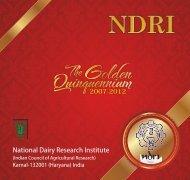 NDRI Quinquennium Book COVER FINAL CURVE.cdr