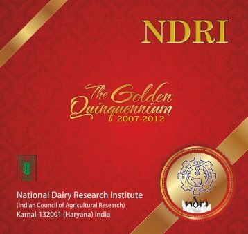 NDRI Quinquennium Book COVER FINAL CURVE.cdr