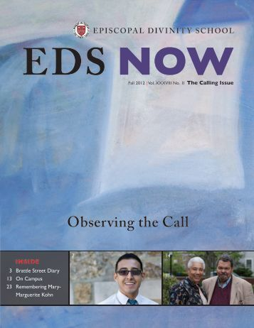 Fall 2012 Issue [PDF] - Episcopal Divinity School