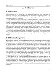 Lab 8: Diffraction 1 Introduction 2 Diffraction by Apertures