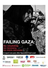 Failing gaza: - Christian Aid