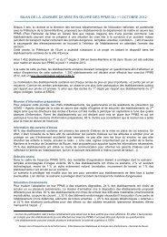 Bilan complet - Risques Majeurs et Environnement - Académie de ...