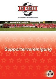Broschüre Supportervereinigung